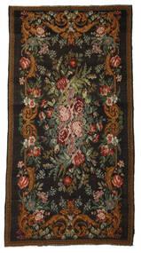 Rozenkelim Moldavia Vloerkleed 196X380 Echt Oosters Handgeweven Zwart/Bruin (Wol, Moldavië)