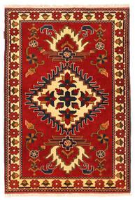 Kazak Vloerkleed 106X158 Echt Oosters Handgeknoopt Roestkleur/Donkerbruin (Wol, Pakistan)