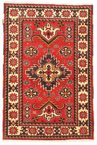 Kazak Vloerkleed 97X149 Echt Oosters Handgeknoopt Donkerrood/Donkerbruin (Wol, Pakistan)