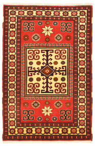 Kazak Vloerkleed 103X160 Echt Oosters Handgeknoopt Donkerbruin/Rood (Wol, Pakistan)