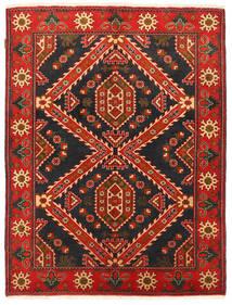 Kazak Vloerkleed 152X198 Echt Oosters Handgeknoopt Zwart/Donkerrood (Wol, Pakistan)