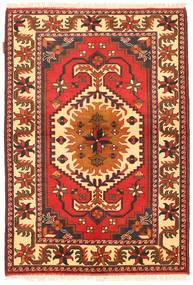 Kazak Vloerkleed 105X154 Echt Oosters Handgeknoopt Oranje/Beige (Wol, Pakistan)