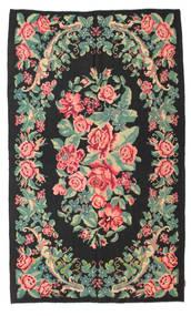 Rozenkelim Moldavia Vloerkleed 154X288 Echt Oosters Handgeweven Zwart/Pastel Groen (Wol, Moldavië)