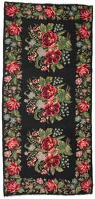 Rozenkelim Moldavia Vloerkleed 180X385 Echt Oosters Handgeweven Zwart/Donkerbruin (Wol, Moldavië)