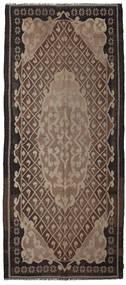 Rozenkelim Moldavia Vloerkleed 164X382 Echt Oosters Handgeweven Tapijtloper Donkerbruin/Lichtgrijs/Bruin (Wol, Moldavië)