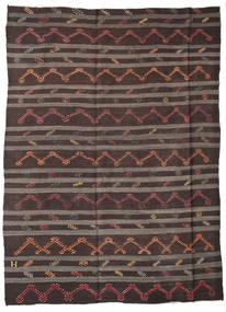 Kelim Semi-Antiek Turkije Vloerkleed 240X315 Echt Oosters Handgeweven Donkerbruin/Donkergrijs (Wol, Turkije)