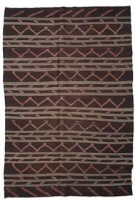 Kelim Semi-Antiek Turkije Vloerkleed 233X340 Echt Oosters Handgeweven Donkerbruin/Bruin (Wol, Turkije)