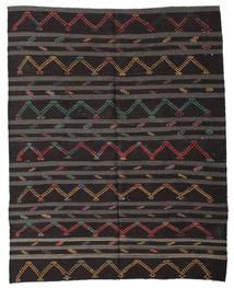Kelim Semi-Antiek Turkije Vloerkleed 240X307 Echt Oosters Handgeweven Zwart/Donkergrijs (Wol, Turkije)