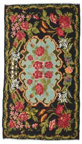 Rozenkelim Moldavia Vloerkleed 193X346 Echt Oosters Handgeweven Zwart/Rood (Wol, Moldavië)