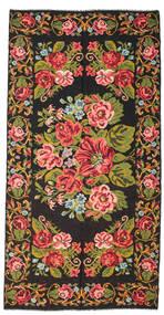 Rozenkelim Moldavia Vloerkleed 198X400 Echt Oosters Handgeweven Zwart/Donkerbruin (Wol, Moldavië)