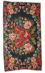 Rozenkelim Moldavia Vloerkleed 178X324 Echt Oosters Handgeweven Zwart/Donkerbruin (Wol, Moldavië)