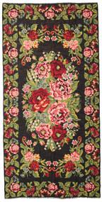 Rozenkelim Moldavia Vloerkleed 210X429 Echt Oosters Handgeweven Zwart/Donkerbruin (Wol, Moldavië)