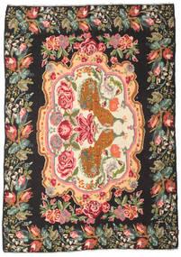 Rozenkelim Moldavia Vloerkleed 205X290 Echt Oosters Handgeweven Zwart/Olijfgroen (Wol, Moldavië)