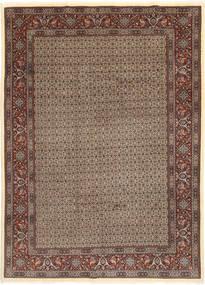Moud Sherkat Farsh Vloerkleed 203X283 Echt Oosters Handgeknoopt Lichtgrijs/Donkerrood (Wol/Zijde, Perzië/Iran)