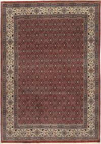 Moud Sherkat Farsh Vloerkleed 201X292 Echt Oosters Handgeknoopt Donkerrood/Donkergrijs (Wol/Zijde, Perzië/Iran)