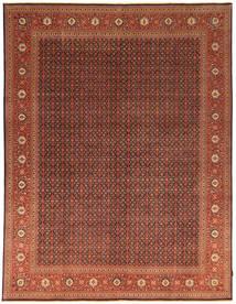 Tabriz 50 Raj Vloerkleed 296X384 Echt Oosters Handgeknoopt Donkerbruin/Rood Groot (Wol, Perzië/Iran)