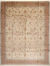 Kashmir Puur Zijde Vloerkleed 304X389 Echt Oosters Handgeknoopt Bruin/Beige/Lichtgrijs Groot (Zijde, India)