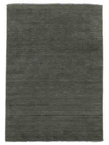 Handloom Fringes - Donkergrijs Vloerkleed 160X230 Modern Donkergrijs (Wol, India)
