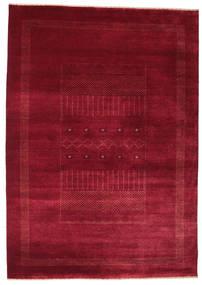 Gabbeh Loribaft Vloerkleed 156X221 Echt Modern Handgeknoopt Donkerrood/Rood (Wol, India)