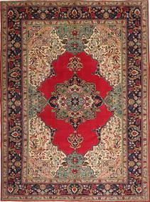 Tabriz Patina Vloerkleed 264X355 Echt Oosters Handgeknoopt Donkerbruin/Donkerrood Groot (Wol, Perzië/Iran)