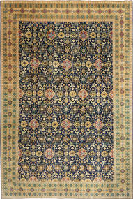 Tabriz Patina Vloerkleed 244X360 Echt Oosters Handgeknoopt Donkerbeige/Zwart (Wol, Perzië/Iran)