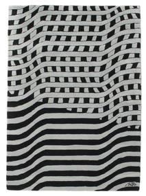 Passages Handtufted - Zwart/Grijs Vloerkleed 140X200 Modern Zwart/Lichtgroen (Wol, India)