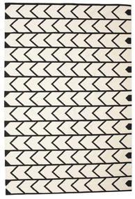Delia Vloerkleed 200X300 Echt Modern Handgeweven Beige/Zwart (Katoen, India)