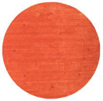 Loribaf Loom Vloerkleed Ø 202 Echt Modern Handgeknoopt Rond Oranje/Rood (Wol, India)