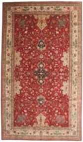 Tabriz 50 Raj Getekend Torabi Vloerkleed 378X660 Echt Oosters Handgeknoopt Donkerrood/Bruin Groot (Wol/Zijde, Perzië/Iran)