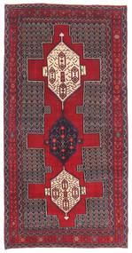 Senneh Patina Vloerkleed 145X299 Echt Oosters Handgeknoopt Donkerbruin/Rood (Wol, Perzië/Iran)