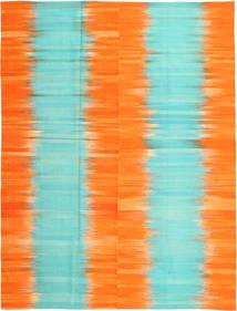 Kelim Moderne Vloerkleed 216X286 Echt Modern Handgeweven Oranje/Turquoise Blauw (Wol, Afghanistan)