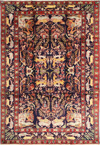 Bakhtiyar Figuratief/Geïllustreerd Vloerkleed 231X332 Echt Oosters Handgeknoopt Donkerrood/Zwart (Wol, Perzië/Iran)