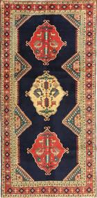 Ardebil Vloerkleed 145X303 Echt Oosters Handgeknoopt Tapijtloper Donkerpaars/Donkerrood (Wol, Perzië/Iran)