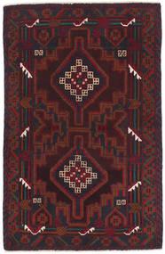 Beluch Vloerkleed 86X135 Echt Oosters Handgeknoopt Donkerbruin/Donkerrood (Wol, Afghanistan)