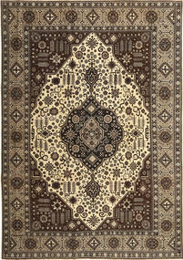 Tabriz Patina Vloerkleed 245X350 Echt Oosters Handgeknoopt Donkerbruin/Lichtbruin (Wol, Perzië/Iran)