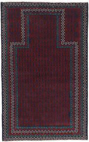 Beluch Vloerkleed 88X139 Echt Oosters Handgeknoopt Zwart/Donkerrood (Wol, Afghanistan)