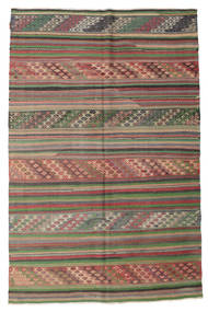 Kelim Semi-Antiek Turkije Vloerkleed 176X270 Echt Oosters Handgeweven Lichtgrijs/Donkergroen (Wol, Turkije)