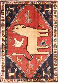 Ghashghai Vloerkleed 125X177 Echt Oosters Handgeknoopt Donkerpaars/Donkerrood (Wol, Perzië/Iran)