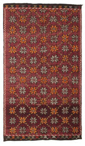 Kelim Semi-Antiek Turkije Vloerkleed 180X311 Echt Oosters Handgeweven Donkerrood/Donkerbruin (Wol, Turkije)