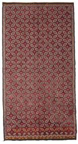 Kelim Semi-Antiek Turkije Vloerkleed 178X335 Echt Oosters Handgeweven Donkerrood/Roze (Wol, Turkije)