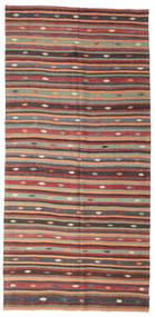 Kelim Semi-Antiek Turkije Vloerkleed 180X373 Echt Oosters Handgeweven Zwart (Wol, Turkije)