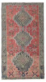 Kelim Semi-Antiek Turkije Vloerkleed 180X320 Echt Oosters Handgeweven Donkergrijs/Roestkleur (Wol, Turkije)