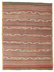 Kelim Semi-Antiek Turkije Vloerkleed 183X246 Echt Oosters Handgeweven Bruin/Donkerrood (Wol, Turkije)