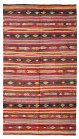 Kelim Semi-Antiek Turkije Vloerkleed 180X322 Echt Oosters Handgeweven Donkerrood/Roestkleur (Wol, Turkije)