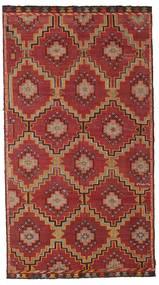 Kelim Semi-Antiek Turkije Vloerkleed 175X318 Echt Oosters Handgeweven Donkerrood/Donkerbruin (Wol, Turkije)