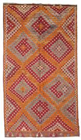 Kelim Semi-Antiek Turkije Vloerkleed 170X306 Echt Oosters Handgeweven Donkerrood/Bruin (Wol, Turkije)