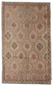 Kelim Semi-Antiek Turkije Vloerkleed 185X302 Echt Oosters Handgeweven Bruin/Lichtgrijs (Wol, Turkije)