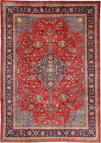 Mahal Vloerkleed 212X310 Echt Oosters Handgeknoopt Donkerrood/Roestkleur (Wol, Perzië/Iran)