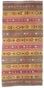 Kelim Semi-Antiek Turkije Vloerkleed 168X351 Echt Oosters Handgeweven Donkerrood/Donkerbeige (Wol, Turkije)