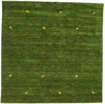 Gabbeh Loom Two Lines - Groen Vloerkleed 200X200 Modern Vierkant Donkergroen (Wol, India)